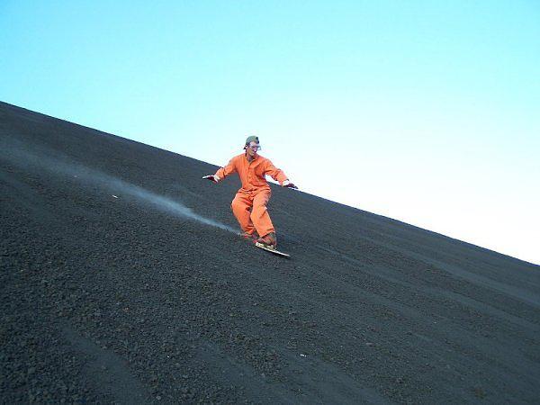 Ashboarding down the Cerro Negro