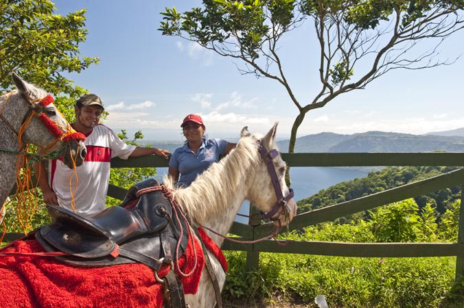 Horseback riding with beautiful scenery