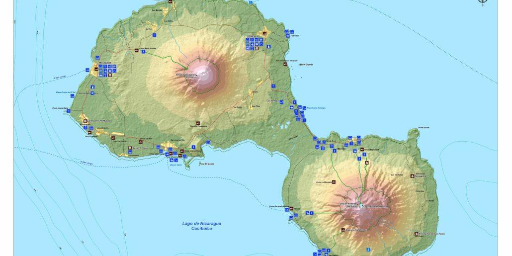 Maps- archeology-ometepe-rivas-nicaragua