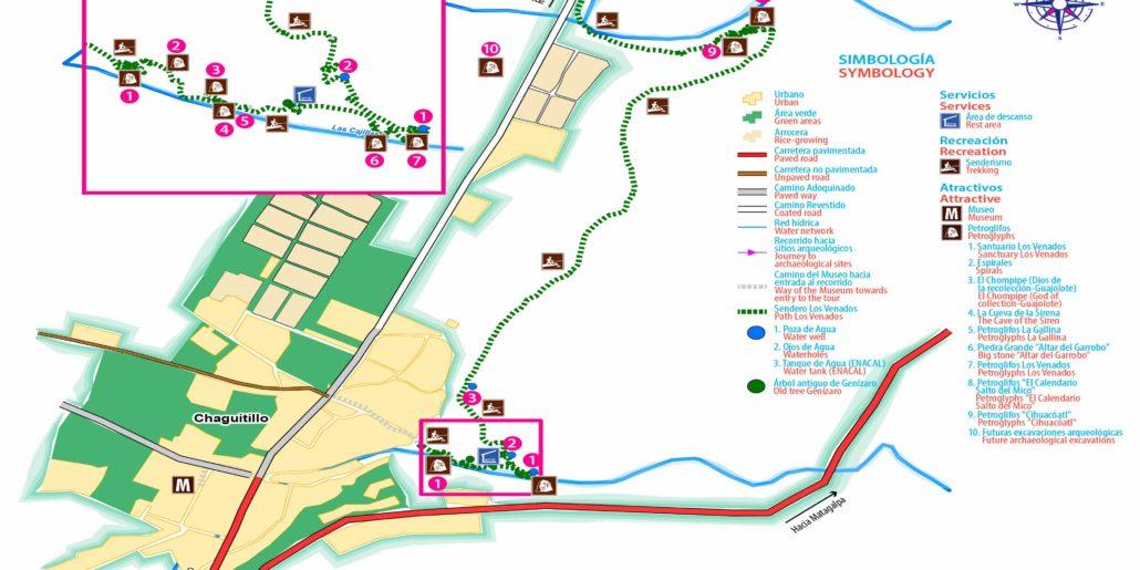 Sanctuary Los Venados petroglyphs.-Maps