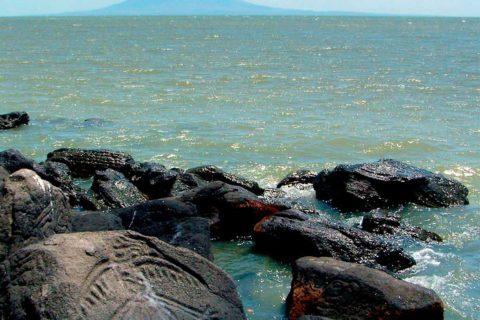 Petroglyphs Zapatera Island.